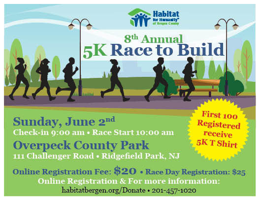 8th Annual 5K Race to Build | Habitat for Humanity of Bergen County
